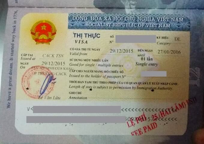 Vietnam Business Visa