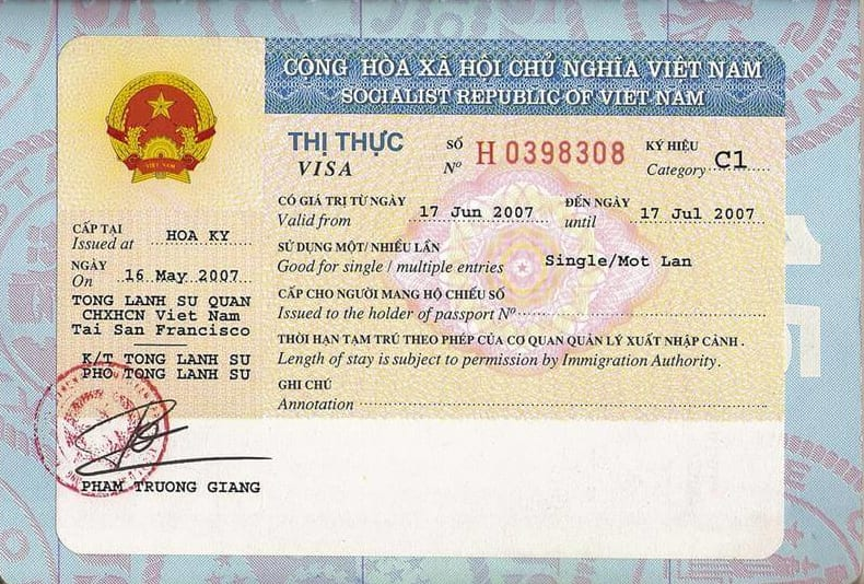 Vietnam tourist visa for Egyptian