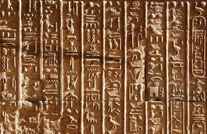 Chữ viết tượng hình của người Ai Cập cổ đại
