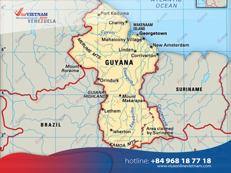 How to apply for Vietnam visa on arrival in Guyana?